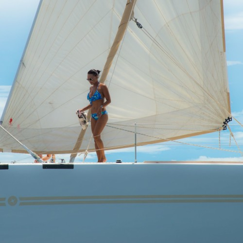 Catamaran's optimum space builds intimate unforgettable moments.