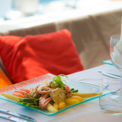 Your private chef will surprise you with an imaginative cuisine.