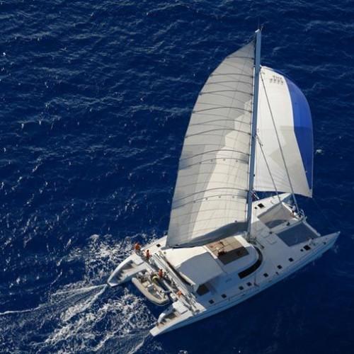 Lonestar Catamaran Sailing Indian Ocean